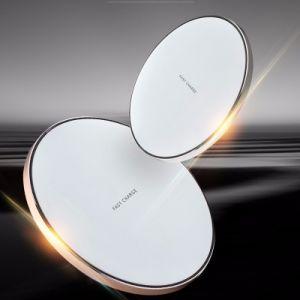 Vente chaude Crystal téléphone mobiles personnalisées Auto 10W Qi chargeur sans fil de charge rapide pour les téléphones