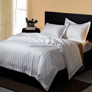 Conjunto de roupa de cama de hotel de algodão com 3 cm de padrão de distribuição