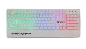 Het witte Online Toetsenbord van het Toetsenbord van het Toetsenbord Compacte, LEIDEN Kleurrijk Licht Toetsenbord