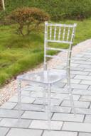 Party Rental를 위한 Monobloc Plexi Resin Tiffany Chair