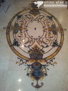 Flooring (mm090)のためのWaterjet Pattern Marble Tiles