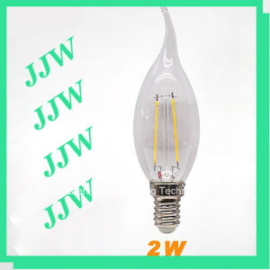 CER RoHS 2W Tail Candle Light Mini LED Filament Bulb (TC35FW2-1.8-E14S)