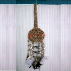 Pendente de recolhedor de sonho com pedra de turquesa, penas, teia de aranha / Cordão de pedra de turquesa Dreamcatcher Encanto Penas Pendant/Stone Dream Catcher