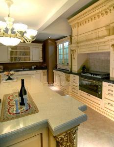 Keukenkast van de Luxe van de Stijl van Rehab van het Meubilair van de keuken de Amerikaanse Stevige Houten