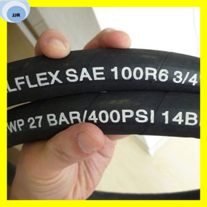 Trançado de fibra de alta qualidade a mangueira hidráulica SAE 100R6