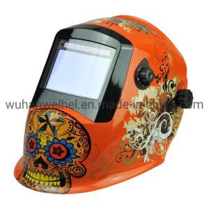 Energía Solar de oscurecimiento automático de soldadura automática casco / máscara de molienda (WH8912334)