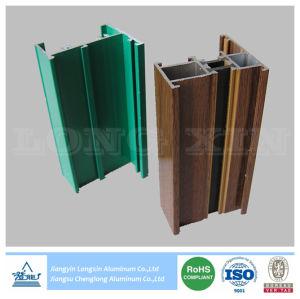 Estrutura de alumínio de impressão de madeira para o vidro corrediço