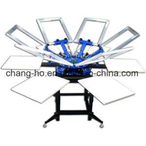 6 Farben-Shirt-Silk Bildschirm-Drucken-Maschine