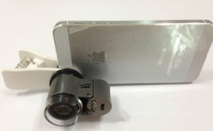 Objektiv-Kennzeichen des Mikroskop-65X der Schmucksachen für Samsung iPhone