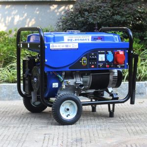 バイソン((m) 6kw 6kVA中国) BS7500p OEMの工場熱い販売の実際の出力電力高品質によって使用される発電機