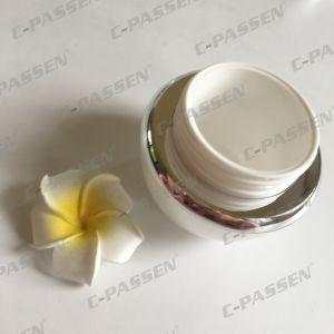 化粧品の包装のための50g真珠の白いアクリルのクリーム色の瓶(PPC-ACJ-118)
