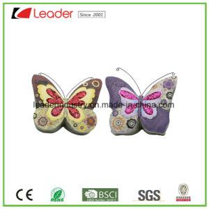 De Standbeelden van de Vlinder van Polyresin met schitteren Vleugels voor de Decoratie van de Tuin