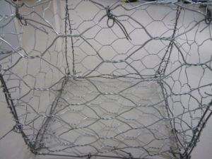 Galvanizado en caliente de malla hexagonal Gabion Box y galvanizado recubierto de PVC Gabion Box