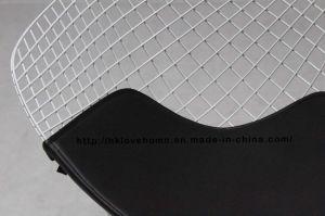 ダイニングレストランKdシートブラックPUクッションワイヤーダイヤモンドチェア