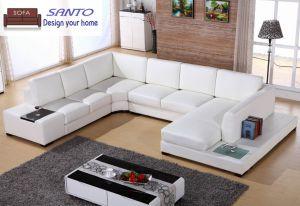 Sofá de couro sofá 9 lugares Alemanha Sala sofá de couro combinação seccional sofás de couro U Sofá Transversal