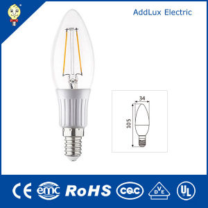3W E14 Daylight/Pure White LED Filament Candle Bulb