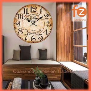 Caliente la venta de varios estilos innovadores comercio al por mayor Reloj de pared Pared Vintage Antiguo reloj redondo de madera para la decoración del hogar016107-85 Fz.