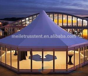 結婚式PVC白いイベントの屋外の大きい玄関ひさしのテント