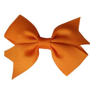 Design personalizado Natal 25mm Fita Organza Bow para cabelos