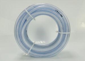 Fibra de PVC reforzado de grado alimentario manguera trenzada tubería de PVC para la leche cerveza, agua potable