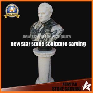 Busto de cabeça de pedra, o homem no busto