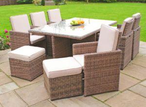 Muebles de cena al aire libre del jardín de vector de la silla de la rota de 6 cubos (GN-8622D)
