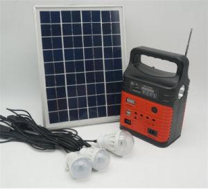 De pequeño tamaño, la radio con panel solar y Solar Casa Solar de kits de iluminación de los kits de iluminación del hogar