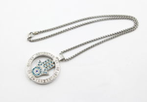 Nuovo Design Memory Locket con Stones Fashion Necklace