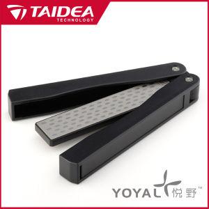 Plegado exterior dobles caras Diamond Afilador de cuchillos