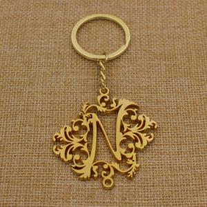 건강한 상태를 가진 주문 빈 금속 금 열쇠 고리