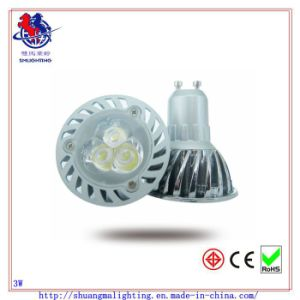 3X1w GU10 LED Spot Lamp Nickel Plating CER RoHS