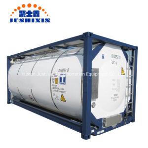 China Jsxt 20FT T11/T14 HCl/Sulphic Envio/Glicóis/metanol/álcool/Hydrofludric/Nacl/H2O2/ácido Naclo ISO Recipiente do tanque de alimentos em aço inoxidável