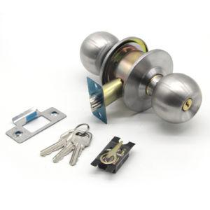 Uso interior Cerraduara De latón Pomo cilíndrico de acero inoxidable cerradura pomo de palanca tubular