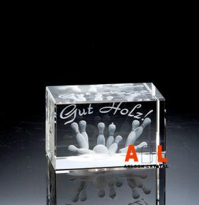 De Houder van de Kaars van het kristal met 3D binnen Laser, het Kristal van China, K9 Kristal