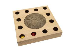 Krassende Stuk speelgoed van de Kat van het Karton van Scratcher van de Kat van de Prijs van de vervaardiging het Goedkope
