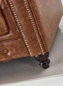 Quarto Luxury Living sofá Chesterfield de couro
