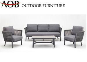 Jardim exterior moderno chinês Home Deck Sala modular Pátio mobiliário L Shape Lounge Mobiliário sofá de canto de Ajuste