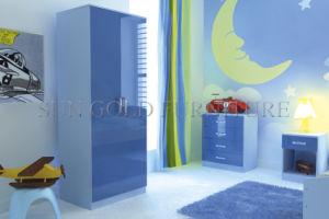 [أتّووا] لون زرقاء عال لامعة غرفة نوم خزانة ثوب مجموعة ([سز-ود019])