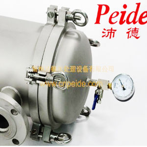 1um SUS304 0.6MPa Juice Mineral Water Precision Filter