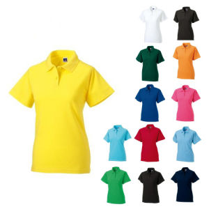 Fashion jolie broderie coton/polyester Polo Shirt (P006)