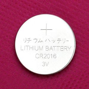 Batteria Cr2016 3V del tasto del litio