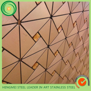 Telhas de aço inoxidável grosso para restaurante Decora na parede
