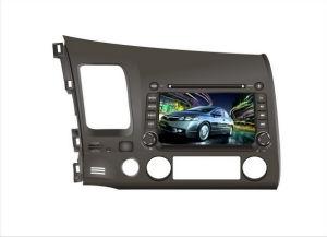 En el tablero coche reproductor de DVD para Honda-Civic con GPS y el sistema de entretenimiento de audio/vídeo HD con pantalla digital TFT