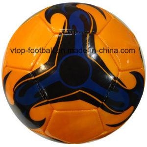 4개의 색깔 PVC 기계에 의하여 바느질되는 축구