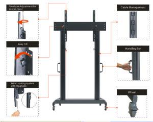 Heißer Form Fernsehapparat-Fußboden-Standplatz/Montierungs-/Halter-Achsabstand 50-110