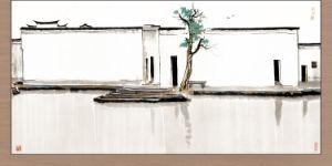 Swallow decorativo del doppio della mosca dell'inchiostro della pittura della struttura della pittura del ristorante del randello dell'hotel