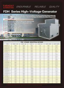 Faraday High Voltage Generator Diesel Alternator 3000kVA-3750kVA