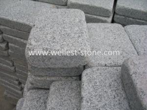 Gris clair, Pierre de granit à bascule de galets Setts de granit