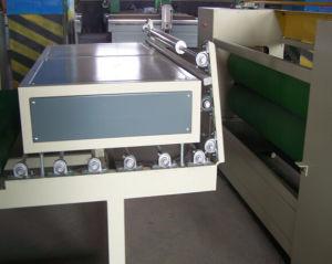 최신 접착제를 가진 벽 널을%s 자동 장전식 선 PVC 목공 Laminator 목제 플라스틱 격판덮개 지상 박판으로 만드는 기계 벽지 Laminator