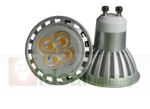 Hohe Leistung LED-GU10 4X1w Spotlight 110V/230V Dimmable Silver Aluminum